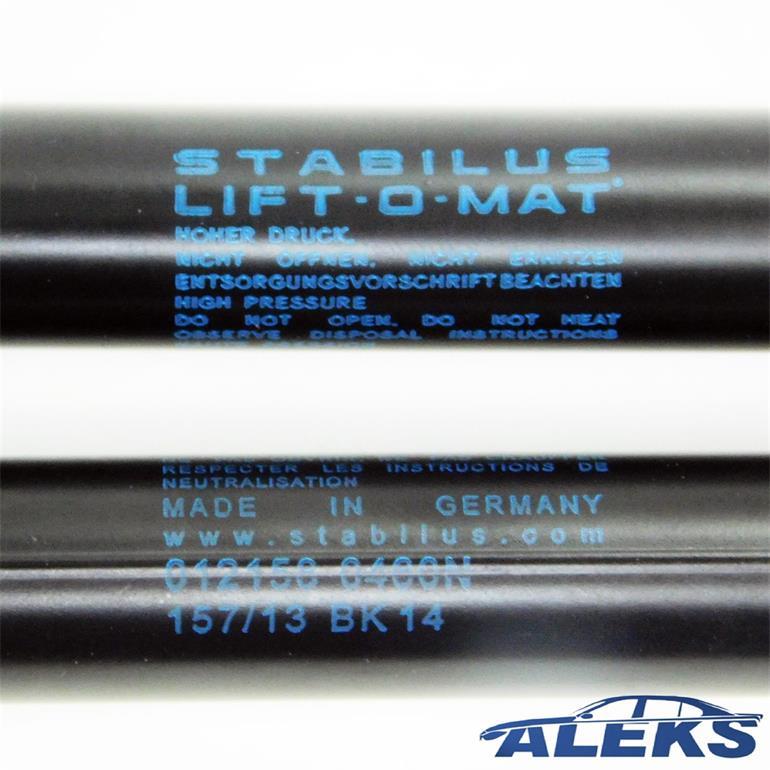 2x STABILUS LIFT-O-MAT LIFTER GASFEDER D/ÄMPFER HECKKLAPPE HECKKLAPPEND/ÄMPFER 6467QF